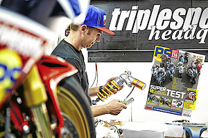 Tune Up - PS magazine tests Öhlins TTX GP aftermarket shock for Honda Fireblade SP