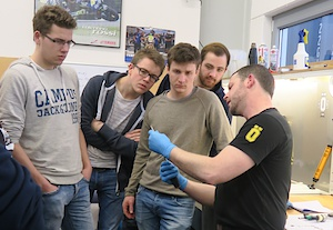 Students from Stralsund visited Öhlins DTC