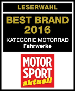 """1st place for Öhlins at the readers choice """"Racer of the Year 2016"""""""